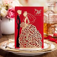 Groom And Groom Wedding Card 2017 New Personalized Wedding Invitations Cards Red Color With