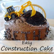 construction cake ideas boy construction birthday cake image inspiration of cake