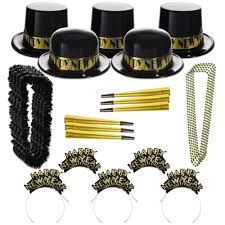 new year party kits new year s party kits black and gold party supplies