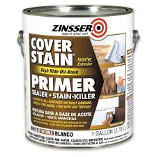 zinsser 1 gal white flat cover stain primer 3551 the home depot