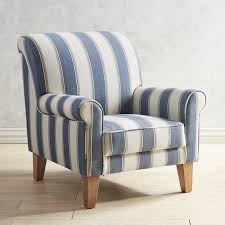White Armchair Popular Of Blue And White Armchair Lyndee Blue White Striped