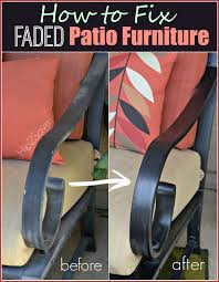 How To Cover Patio Cushions by How To Fix Faded Aluminum Patio Furniture Using Just One Common