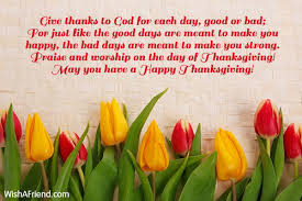 give thanks to god for each thanksgiving message