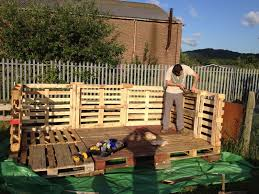 Seating Out Of Pallets by Build A Lemonade Stand Out Of Pallets My Yorkshire Allotment
