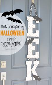 Halloween Ornaments To Make Easy Halloween Front Door Decoration