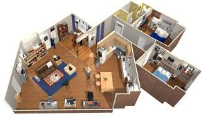 Floor Plan In 3d by The Big Bang Theory Apartment In 3d Homebyme