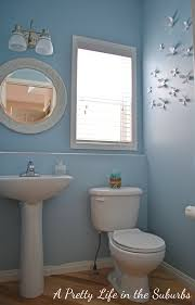 Remove Mirror Glued To Wall Our Powder Room Makeover A Pretty Life In The Suburbs