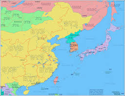 Map Of East Asia Blank by Amateur Radio Prefix Map Of East Asia