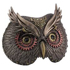 owl mask bronze carnival steunk owl mask wall plaque wall decor