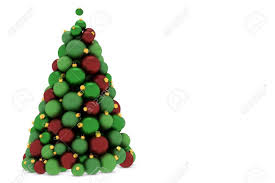 tree made of and green tree balls stock