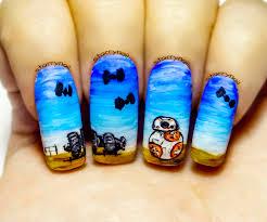 bb 8 star wars u2013 the force awakens freehand nail art