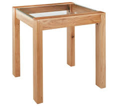 square glass end table buy collection square solid wood glass end table oak effect