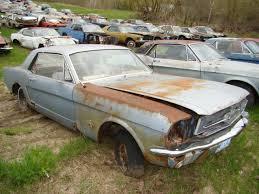mustang salvage yard own a mustang junk yard rustingmusclecars com lost in