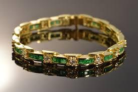 emerald diamond gold bracelet images 18k 9 38 ctw emerald diamond tennis yellow gold bracelet 7 quot below jpg