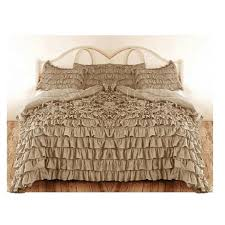 Waterfall Bedding Waterfall Ruffle Duvet Cover Beige 1000tc Egyptian Cotton