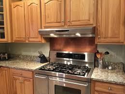 Copper Tiles For Kitchen Backsplash by Rustic Brown Copper Backsplash