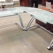 L Desk Staples Find More Staples Z Line Matrix Frosted Glass Desk For Sale At Up