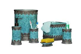 Yellow Bathroom Decor by Blue Bathroom Accessories Turquoise Blue Bathroom Accessories