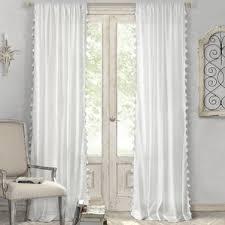 Wayfair Com Curtains White Curtains With Blue Trim Wayfair