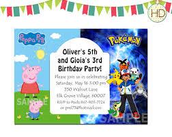 shark birthday invitations pokemon birthday invitation template invitations ideas