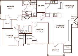 sunroom floor plans greystone summit three bedroom the rocky top sunroom floor plan