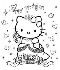 hello kitty birthday coloring pages pertaining to encourage in