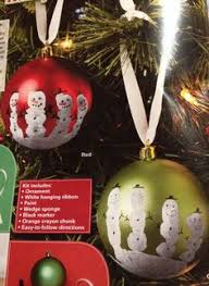 finger paint ornament snowman