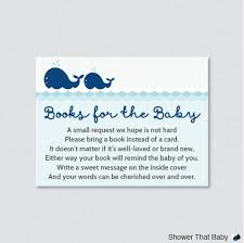 Library Card Invitation Baby Shower Whale Baby Shower Printable Bring A Book Instead Of A Card