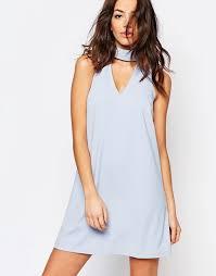light blue shift dress new look new look choker detail shift dress