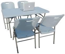 Mini Folding Table 4ft 2ft Plastic Regular Folding Table Solid Panel Mini Study Table