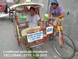 pedicab philippines disaster aid archives rotary international multinational
