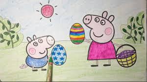 peppa pig coloring eggs surprise game peppa pig english