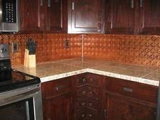 faux tin kitchen backsplash tin backsplash ebay