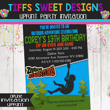 invitations for 13th birthday party zip line birthday party zip line invitation boys outdoor