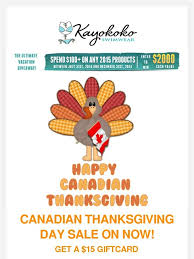 kayokoko canadian thanksgiving day sale on now milled