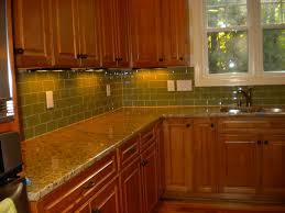 Green Subway Tile Kitchen Backsplash - kitchen backsplash green glass tile home design ideas