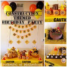 construction birthday party construction themed birthday party pocketful of motherhood