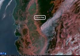 Wildfire Radar by California U0027s Dangerous Detwiler Fire The Amazing Goes 16