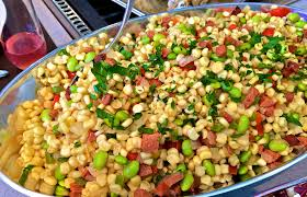thanksgiving side dishes corn and edamame succotash
