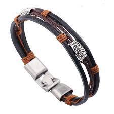 leather rope bracelet images Genuine leather men 39 s vintage bracelets bcbazaar jpg