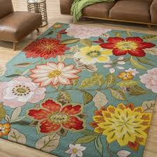 8 X10 Area Rugs Nourison Hooked Blue Floral Area Rug 8 X 10 6