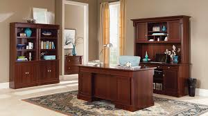 sauder palladia executive desk cherry furniture collections bedroom living room and office