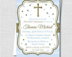 communion invitations for boys communion invitation etsy