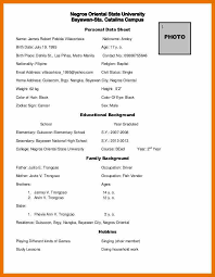 Resume With Color 8 Resume With Personal Data Budget Reporting