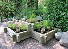 Corner Garden Ideas Landscape Ideas Corner Garden Planter Patio Planter With Wooden