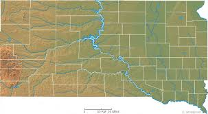 map south dakota south dakota physical map and south dakota topographic map