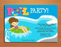 party invitations stylish pool party invitation designs pool