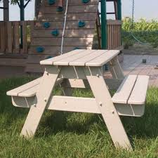 Kids Outdoor Picnic Table Polywood U0026reg Recycled Plastic Kids Picnic Table Walmart Com