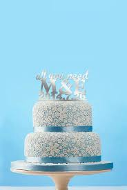all you need is cake topper all you need cake topper and groom initial cake topper