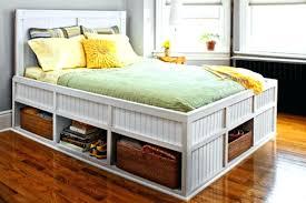 Platform Bed With Storage Underneath Make A Platform Bed Attractive Platform Bed With Storage